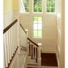 architect Milton MA, custom home, shingle style,front entry, staircase, stair tower